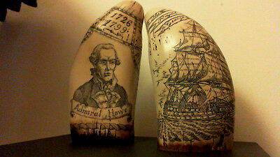 """faux Matching pair    """"King George 3rd""""  &  """"Admiral Howe""""    """" Museum Quality"""""""
