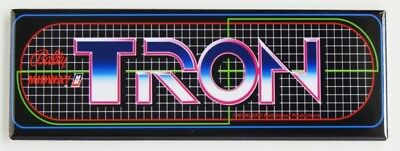 """Tron Arcade Marquee Reproduction 23"""" x 7 3/4""""Header/Backlit Sign FREE SHIPPING"""