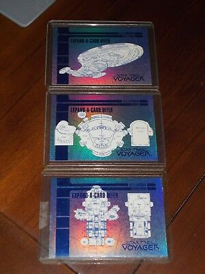 Star Trek Voyager Season One Series One Blueprint Expand-A-Card Offer 3 Card Set