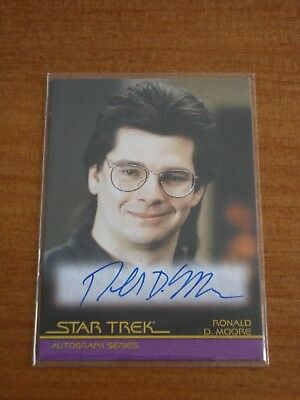 Star Trek Movies in Motion A53 RONALD D MOORE Autograph Auto Card
