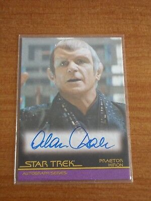 The Quotable Star Trek Movies A106 ALAN DALE as Praetor Hiron Autograph Card