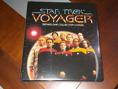 Star Trek Voyager Season One, Series One MASTER SET +Series 2 with binder Skybox