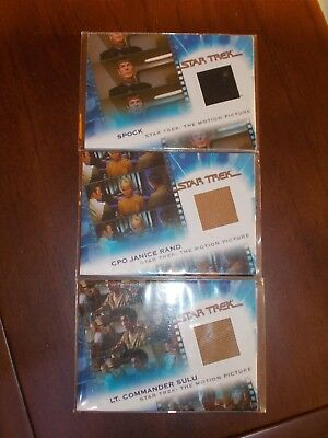 The Star Trek Movies Costume Cards Lot MC2 MC3 MC7 Mint