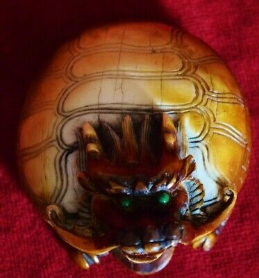 "faux Netsuke ""Whiskered Dragon""   reproduced.. from the Original Netsuke....."