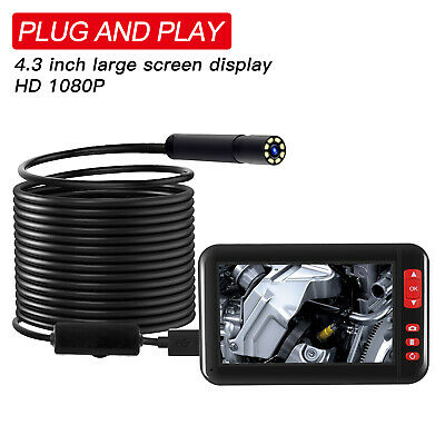 """4.3"""" LCD Monitor 1080P 8mm LED Video Inspection Borescope Camera Endoscope Pipe"""