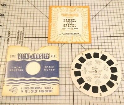 "Vtg View Master ""Hansel And Gretel"" FT-2 Single Reel W/ Book & Sleeve (1946)"