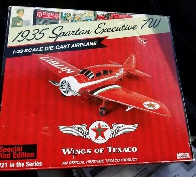 Wings of Texaco 1935 Spartan Executive 700 ,special red edition#23 1:39 scale