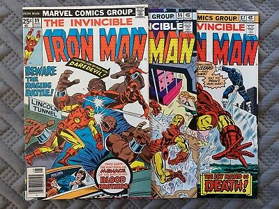 Marvel Iron Man 1970's Lot of 3Comic Books Vol 1. Issues 86-89