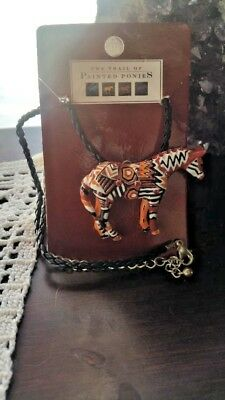 Trail of Painted Ponies, NAVAJO BLANKET PONY Necklace/Pin, NEW & RETIRED