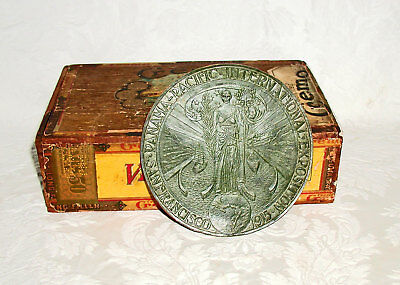 RARE 1915 Panama Pacific World's Fair Large Leather Medallion Engravers Proof