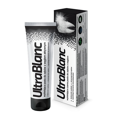 Ultrablanc Whitening  Active Carbon Coal Toothpaste 75ml  Aflofarm