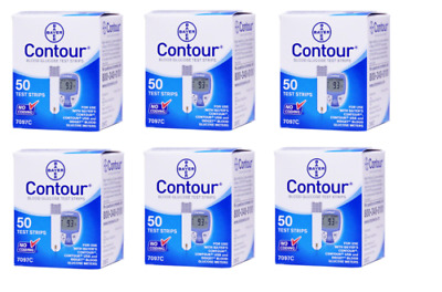 Contour Test Strips  300 Count (6 Boxes of 50) FREE SHIPPING   SUPER SAVER