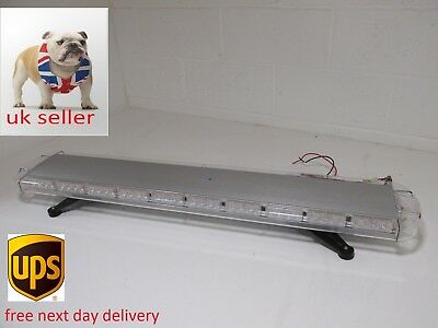 "led recovery lightbar 12v amber strobe light beacon 1200mm 47"" brand new light"