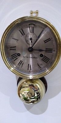 Seth Thomas Antique Ships Bell Clock~6 In.dial~1884~Seldom Seen