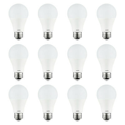 12 Pack Sunlite LED A19 Bulbs, 9W (60W Equal), 6500K Daylight, Non-dimmable