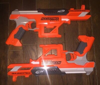 NERF N-Strike Elite AccuStrike Series FalconFire Blaster Lot Of 2 Hasbro