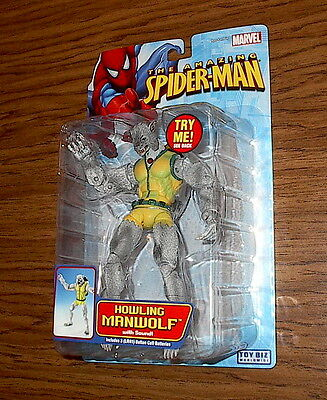 HOWLING MANWOLF! The Amazing Spider-Man! Toy Biz! RARE 2005 Marvel figure!
