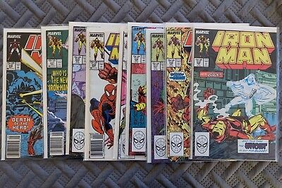Marvel Iron Man 1980's Lot of 9 Comic Books Vol 1. Issues 230, 231, 233-239