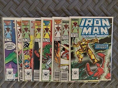 Marvel Iron Man 1980's Lot of 8 Comic Books Vol 1. Issues 210-214, 216-219