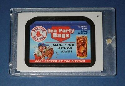 2016 Topps Vault Wacky Packages MLB Baseball #42 Boston Red Sox #1/1 SSP 1 of 1