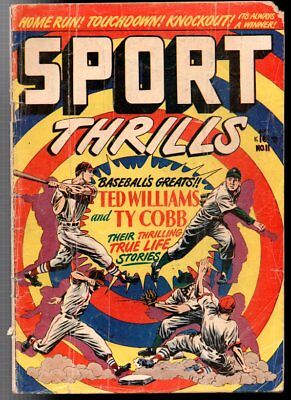 Sport Thrills #11 Star Publications Fair Ted Williams Ty Cobb