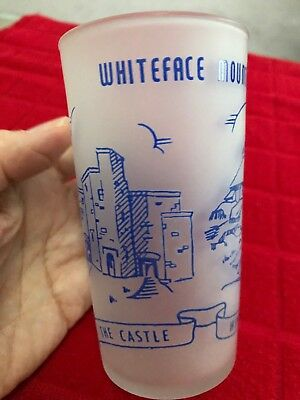 Vintage WHITEFACE MOUNTAIN HIGHWAY, N. Y.  Souvenir Glass