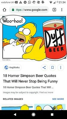 the Simpsons duff beer poster. homer Simpson.36x24''. Not opened.