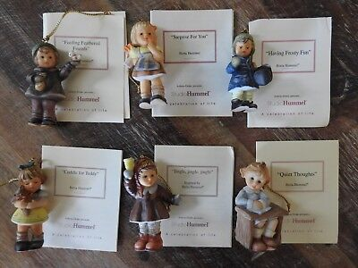 Berta Hummel Christmas Ornaments Lot of 6
