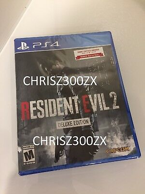 Resident Evil 2 Remake Deluxe Edition PS4 Playstation 4 Physical Disc USA 2019