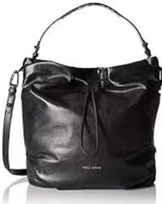 Cole Haan Bag Black Leather Stagedoor Studio Bucket Women Purse NWT MSRP   380 4098d15f66741