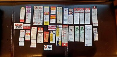 Vtg Lot 31 Oil Change Reminder sticker door jam Tag,RED INDIAN, supertest white
