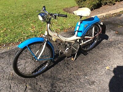 Vintage 60s Raleigh Runabout Moped - Not Running - Very Complete - No Title