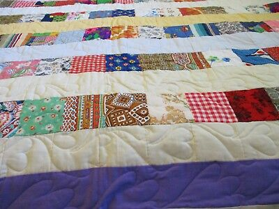 Vintage handmade quilt 66 X 84  New never used hand and machine stitched