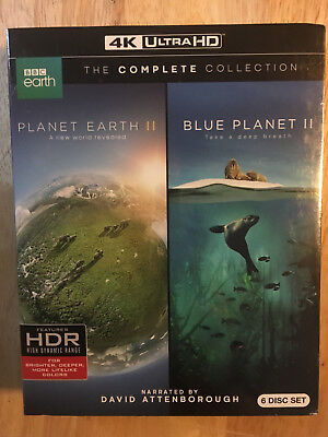 Planet Earth II & Blue Planet II: The Complete Collection 4K UHD + Bluray