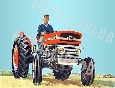 Massey Ferguson 135 Tractor Advertising - Poster (A3) -  LOWER PRICE