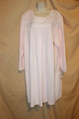 Miss Elaine Nightgown Gown 2X XXL 2XL Peach Floral 236837X Cuddleknit $62.00