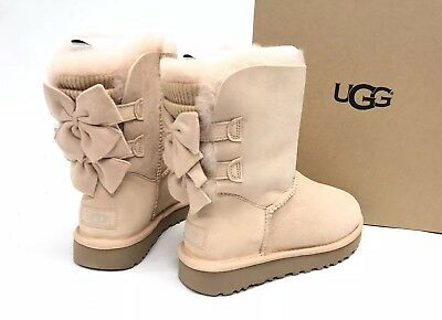 9cc56663733 UGG BAILEY BOW Ruffles Pink Size 8 Toddler - $65.00 | PicClick