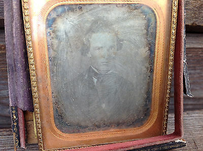 1/6th Plate Ambrotype - Bust of Young Man in Formal Dress