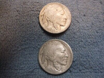 1913-D BUFFALO 5 CENTS -TYPE 2- both are vf  and 1913-type 2 no mint