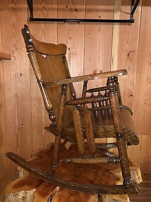 Vintage Comfortable Rocking Chair, Used but in Good Condition