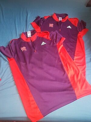 2 x Olympic Games London 2012 Gamesmaker T-shirts