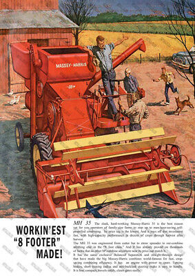 Massey Harris 35 Combine Advertising  - Poster - (A3)