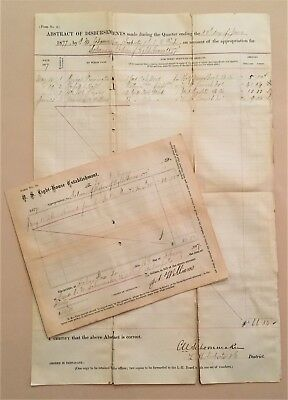 1877 Southern Lighthouse Documents: Providing Wood To Sabine Pass W Rigolets
