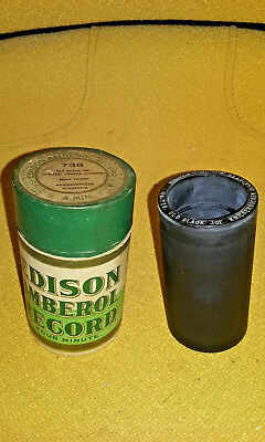 Antique Edison Amberol 4 Minute Cylinder Record 738 Old Black Joe NR