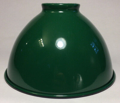 """NEW 7 1/16"""" Metal Dome Lamp Light Shade Pendant Green Porcelain Industrial Style"""