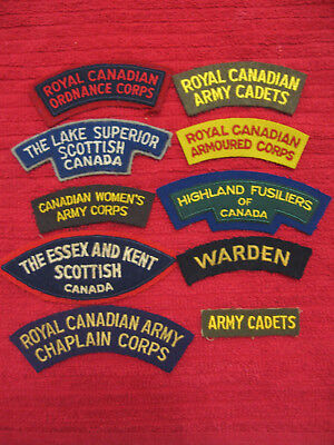 10 Original Canadian patches.