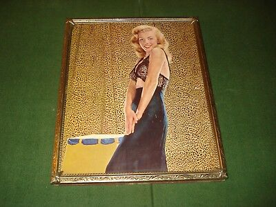 VINTAGE 1948-49 MARILYN MONROE PHOTO in PICTURE FRAME  in LINGERIE, PERIOD PIECE