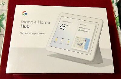 "Google Home Hub with Google Assistant Smart 7"" Display GA00516-US Chalk"