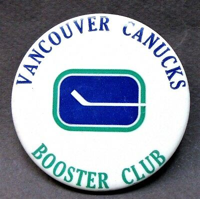 vintage VANCOUVER CANUCKS BOOSTER CLUB hockey pinback button a2