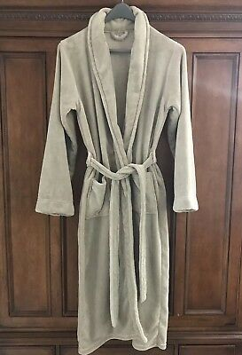 Luxury Plush Long Spa Robe in Dune from Restoration Hardware, Size MD
